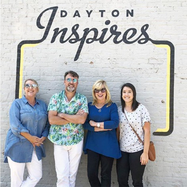 Dayton Inspires Oregon District Sign