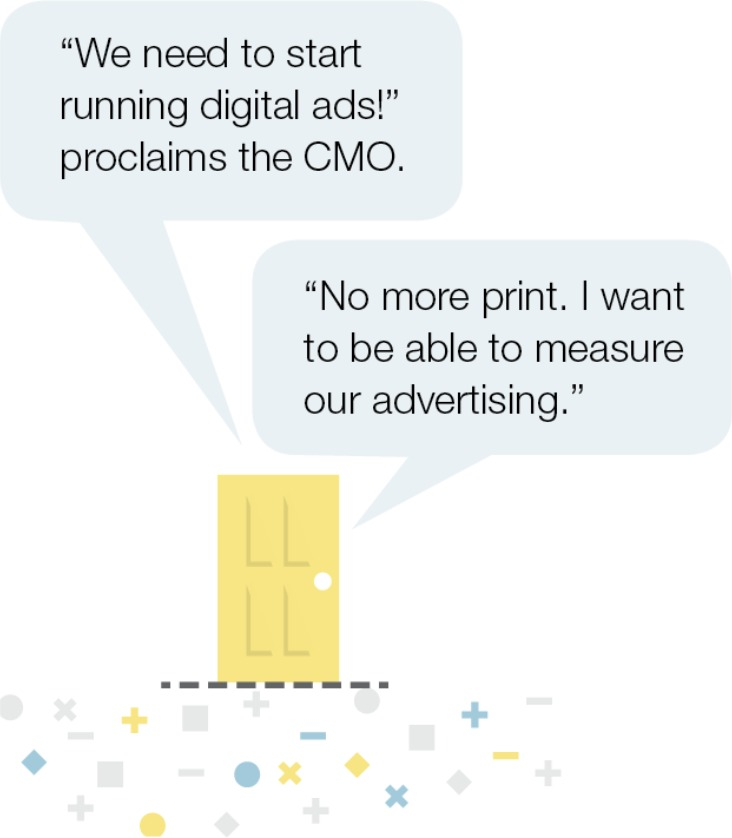 CMO door graphic