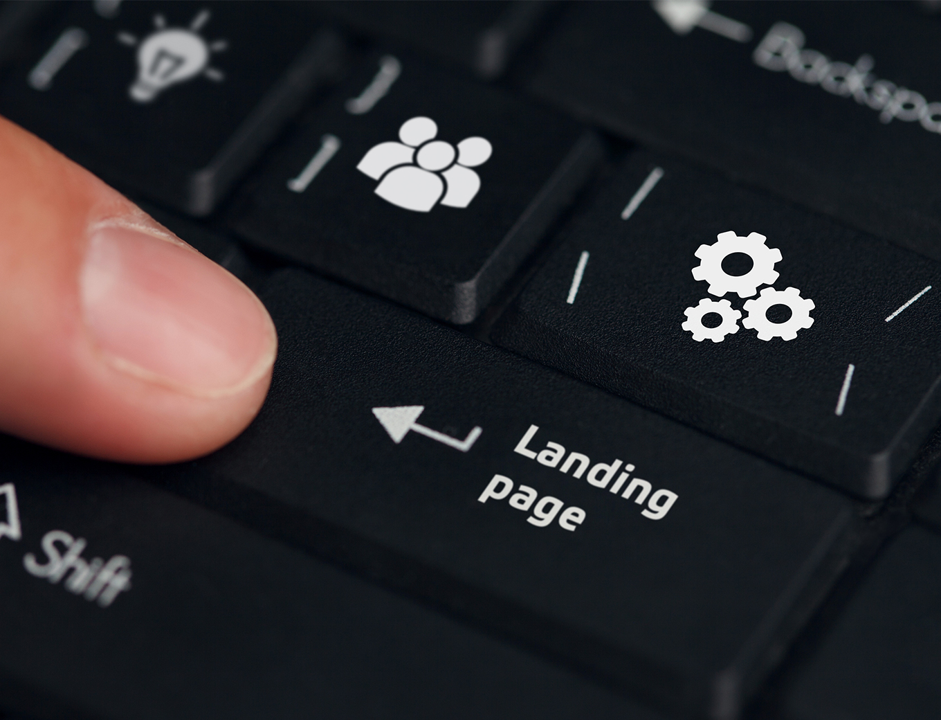 landing page button on keyboard