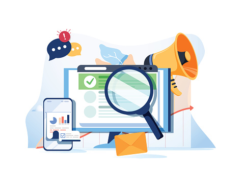 Web search illustration